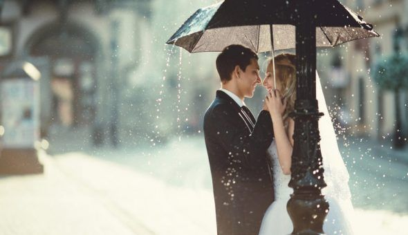 Дождь во время свадьбы