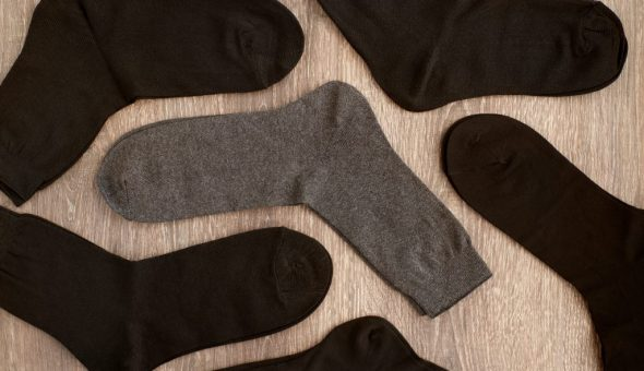 Серые носки не несут негатива