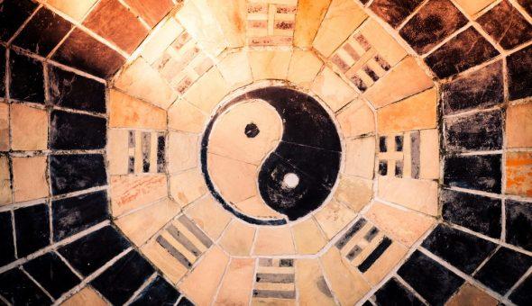 Знак Инь Янь имеет значение в фэн-шуй