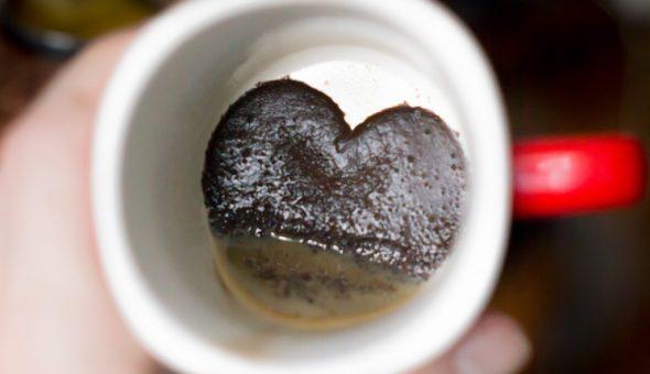 Значение сердца на кофейной гуще